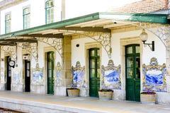 järnväg stationstegelplattor för pinhao Royaltyfria Bilder