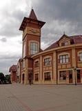 järnväg stationsuzgorod Arkivfoton