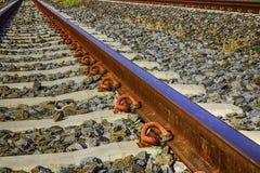 Järnväg sten Royaltyfria Foton