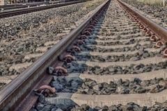 Järnväg sten Fotografering för Bildbyråer