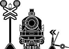 Järnväg stenciler Arkivbild