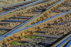 Järnväg strömbrytare Arkivbild