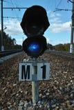 Järnväg tecken och utrustning Royaltyfri Fotografi