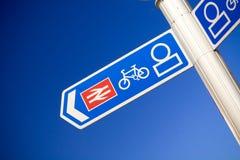 järnväg tecken till Royaltyfria Bilder