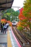 Järnväg till Mt Kurama Fotografering för Bildbyråer