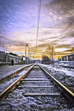 Järnväg till någonstans Royaltyfria Bilder