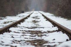 Järnväg till sommar Fotografering för Bildbyråer
