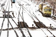 Järnväg trans. Fotografering för Bildbyråer