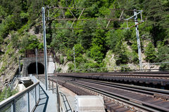Järnväg tunnel Arkivfoto
