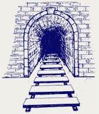 Järnväg tunnel Arkivbilder