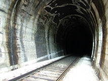 järnväg tunnel Royaltyfri Foto