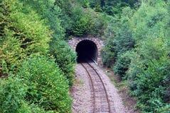 Järnväg tunnel nära den Olomouc staden Fotografering för Bildbyråer