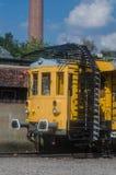 Järnväg tunnel som mäter vagnen eller tunneligelkotten, royaltyfria bilder