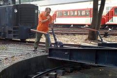 järnväg turntable Fotografering för Bildbyråer