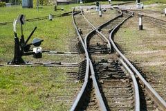 Järnväg tvärgata Royaltyfria Bilder