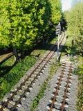 Järnväg två spårar Royaltyfria Bilder