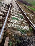 Järnväg upclose Arkivfoton