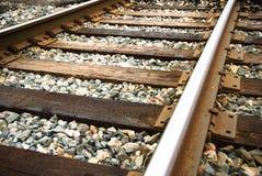 Järnväg upp-slut Arkivfoto