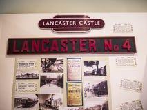 Järnväg utställning i stadsmuseet i Lancaster England i mitten av staden fotografering för bildbyråer