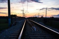Järnväg väg Arkivfoton