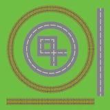 Järnväg vägdelar royaltyfri illustrationer