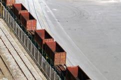 Järnväg vagnar Arkivbild