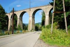Järnväg viadukt Fotografering för Bildbyråer