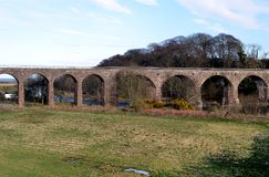 Järnväg viadukt Montrose, Skottland Royaltyfria Bilder