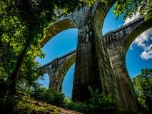 Järnväg viadukter som en unik konstruktion Arkivbilder