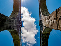 Järnväg viadukter som en unik konstruktion Arkivfoto