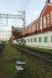 Järnvägar i den industriella zonen Royaltyfri Bild
