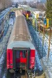 Järnvägar och drev Arkivfoto