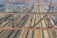 Järnvägar och drev Fotografering för Bildbyråer