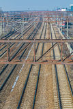 Järnvägar och drev Royaltyfri Bild