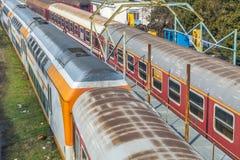 Järnvägar och drev Arkivbild