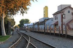 Järnvägbanor Arkivbild