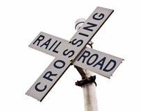 JärnvägCrossing royaltyfri fotografi