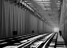 Järnvägen överbryggar royaltyfria foton