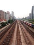 Järnvägen Royaltyfria Bilder