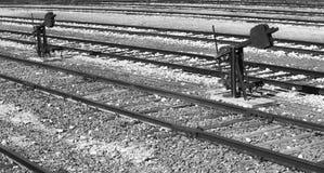 Järnvägen fodrar Arkivfoto