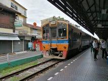 Järnvägen posterar i Bangkok Royaltyfri Fotografi