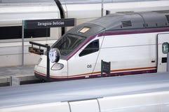 Järnvägen posterar med plattformar för snabba drev Royaltyfri Fotografi