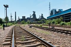 Järnvägen till stålsätta mal Royaltyfri Fotografi