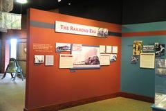 Järnvägerautställningen på drevbussgaraget, Helena Arkansas royaltyfria bilder