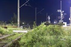 Järnvägföreningspunkt Royaltyfri Bild