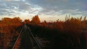 Järnväghösthimmel Arkivfoto