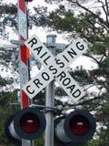Järnvägkorsning Royaltyfri Bild