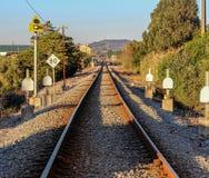 Järnväglandskap arkivbilder