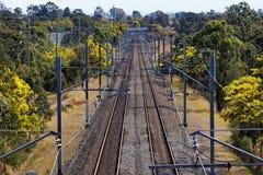 Järnväglinje australierbygd Royaltyfria Foton