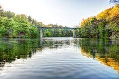 Järnvägsbro i Rutki- Pomeranian, Polen Royaltyfri Bild